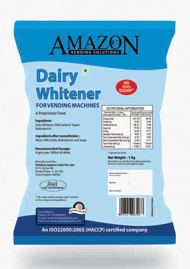 Amazon No Added Sugar Dairy Whitener Premix Plain